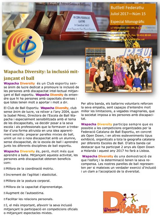 Butlletí Federatiu núm. 15 Especial    Federació Catalana de Ball Esportiu