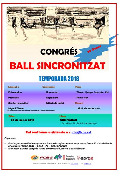 Inscripcions Congrés de Ball Sincronitzat     Federació Catalana de Ball Esportiu
