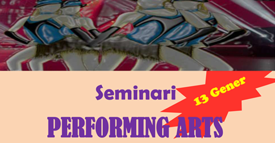 Seminari de Performing Arts. Pre-inscripció