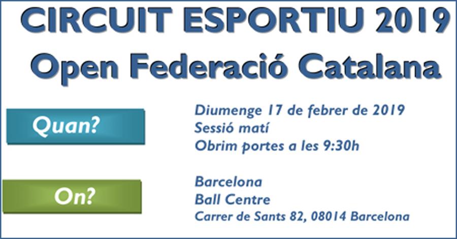 2a Prova Circuit Ball Esportiu Català 2019. Barcelona. Informació