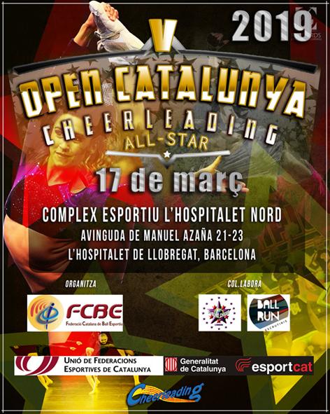 V Open Catalunya Cheerleading. Informació i Fulls d'Inscripció  | Federació Catalana de Ball Esportiu