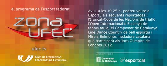 ZONA UFEC - Televisió (UCWDC Star's Line i Campionat de Catalunya LD&CWD 2012)   Federació Catalana de Ball Esportiu