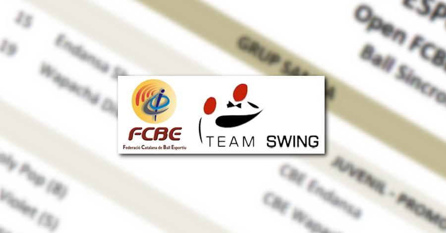 3a Prova Circuit Ball Esportiu Català. Team Swing. Llistats